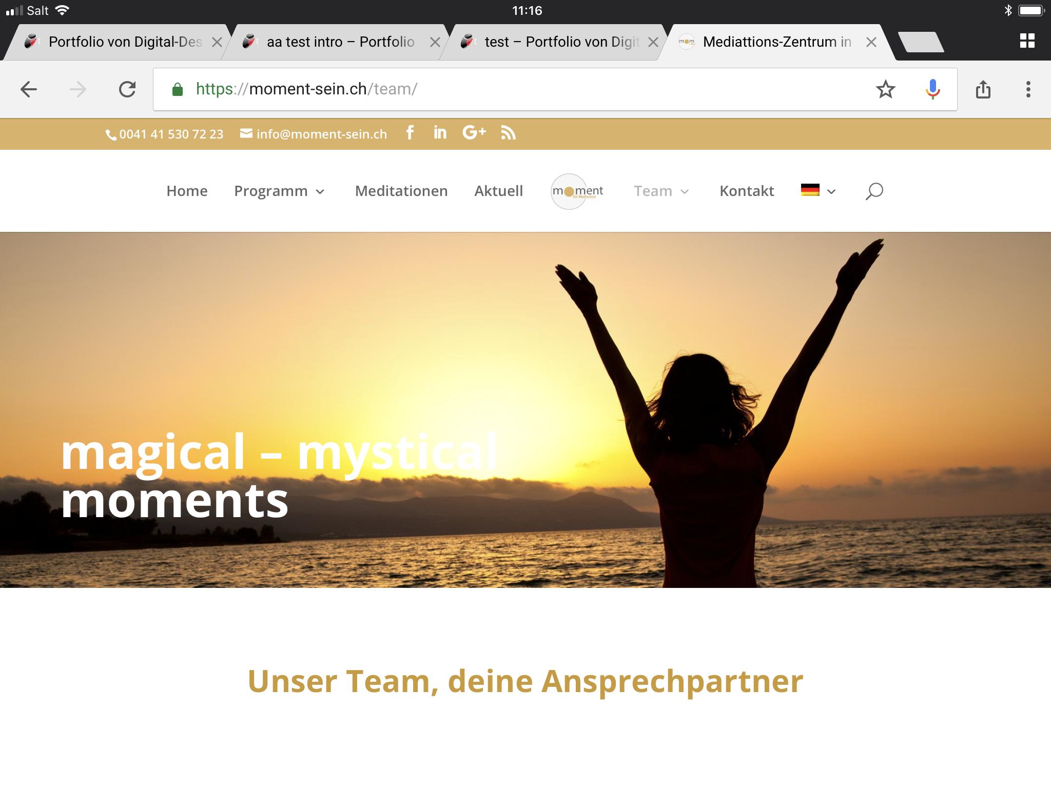 digital-designer.ch-Printscreen Webdesign Meditationszentrum zug