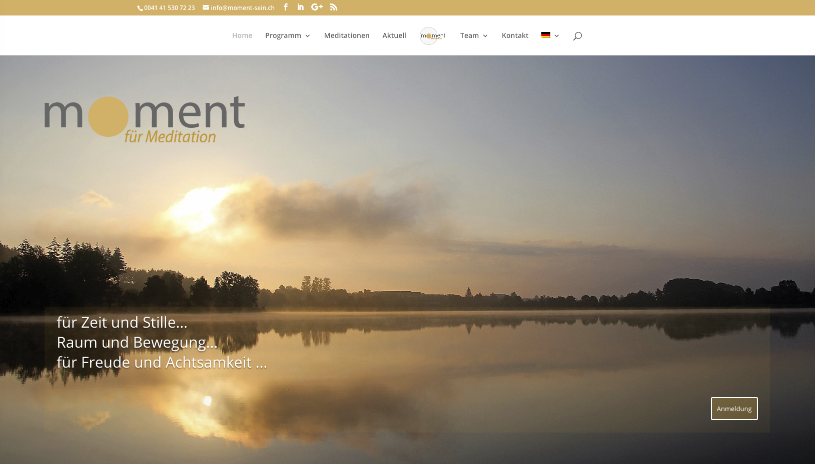 digital-designer.ch-Printscreen Webdesign meditationszentrum Zug